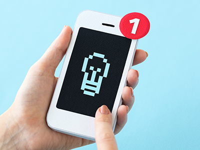 目立つアプリアイコン通知のイメージ