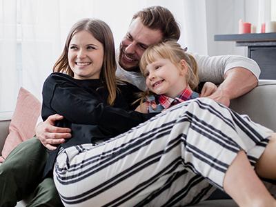 幸せそうに見える家族
