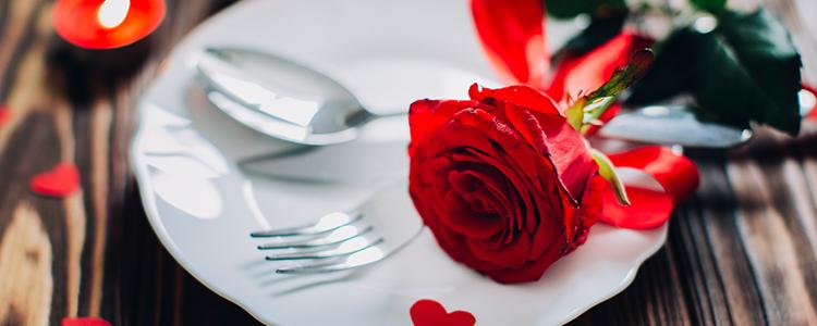 ロマンチックなディナーデートのイメージ